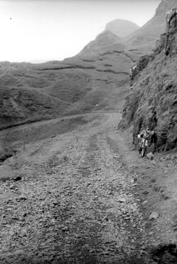The road over the Quiraing in 1955 (rough road!)